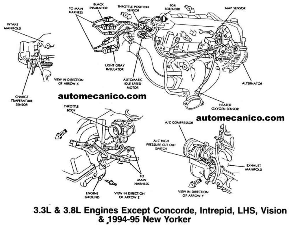 Chrysler 3 8l Engine Diagram impala serpentine belt diagram engine