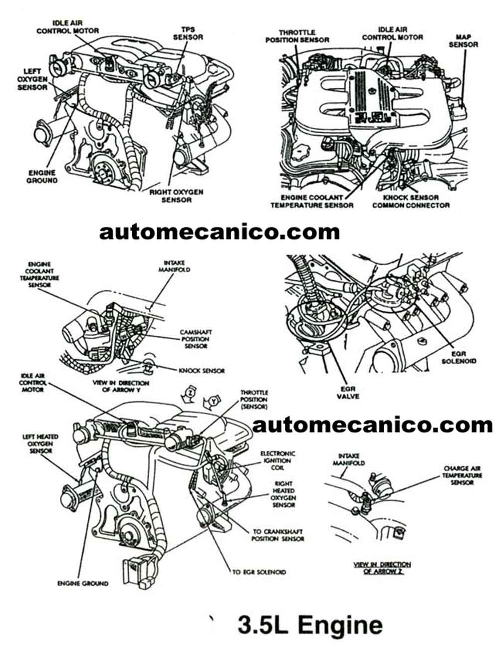 chrysler 3 5l Diagrama del motor