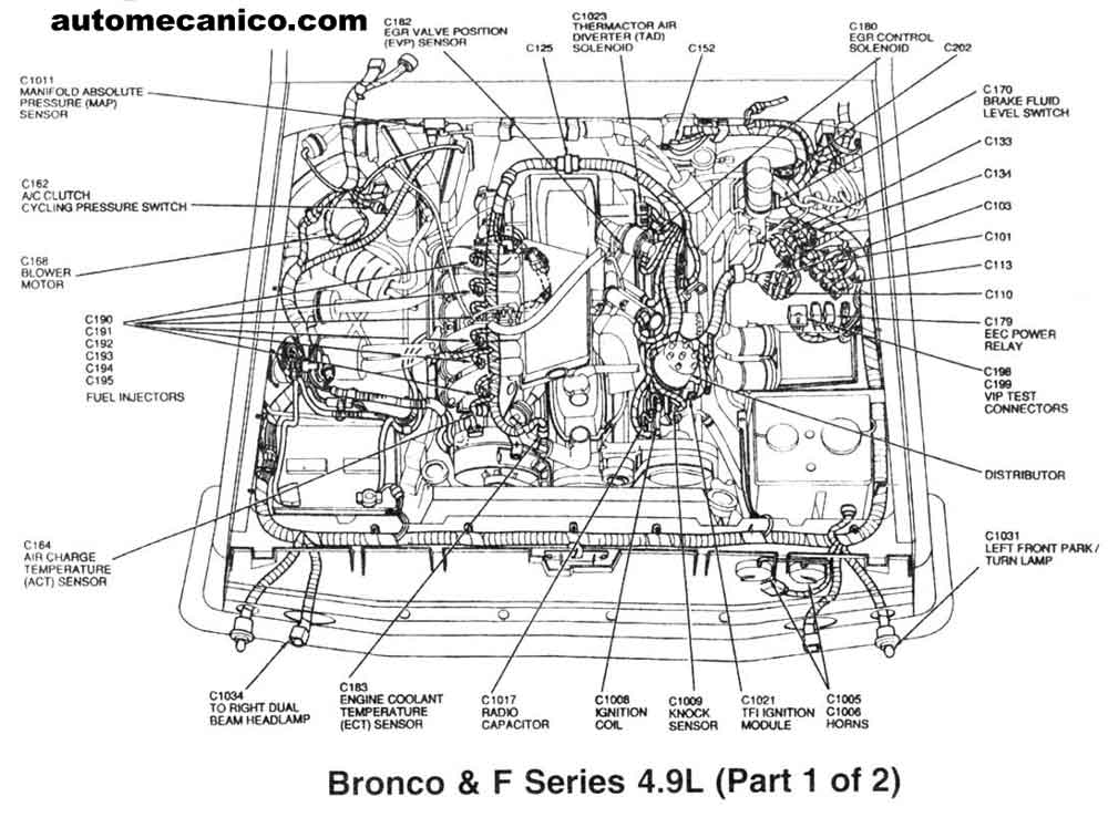 4 9 ford engine vacuum diagram