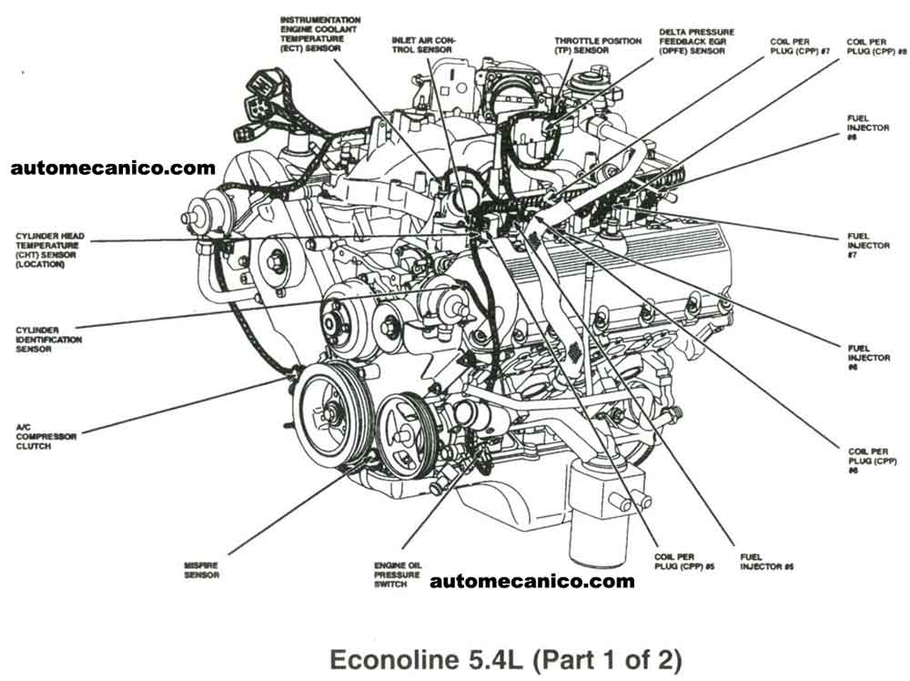 5 4l triton engine diagram
