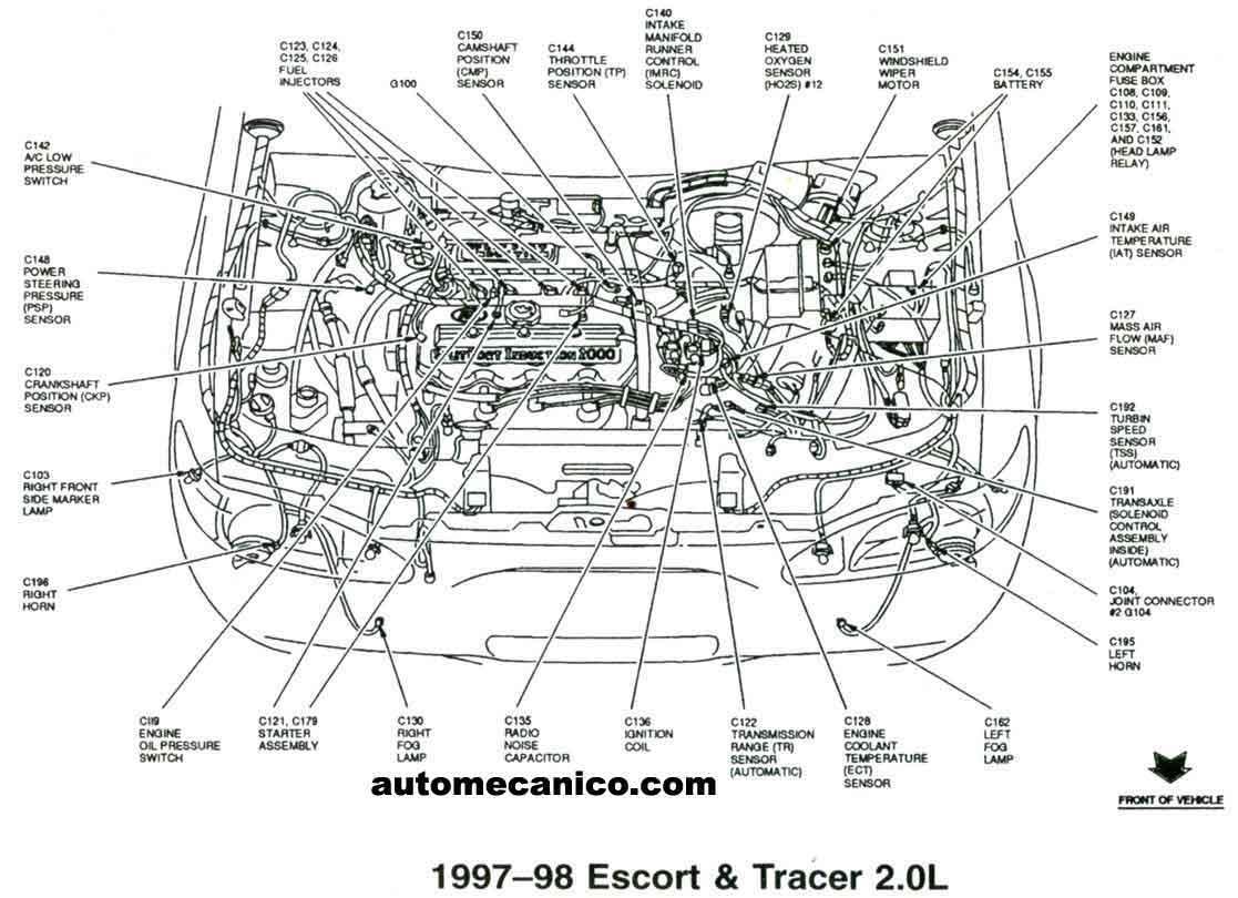 1998 mustang Motor diagram