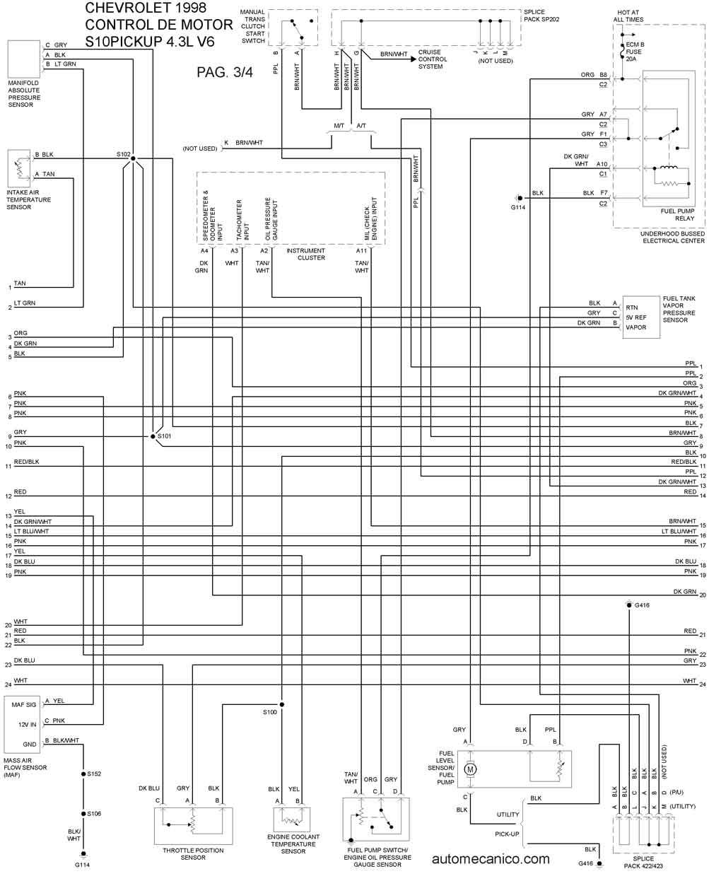 08 gmc sierra diagrama de cableado