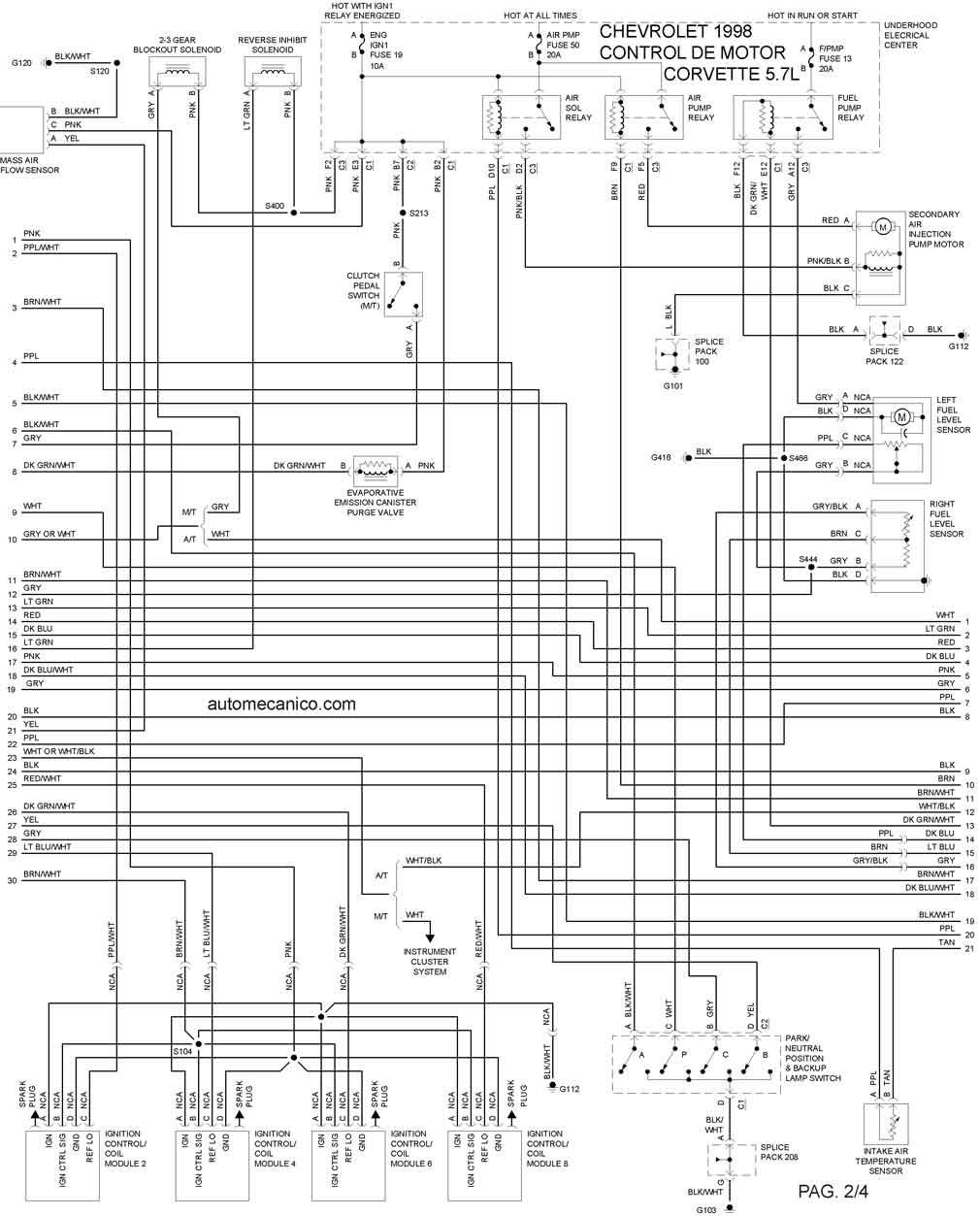 chevy cavalier radio diagrama de cableado
