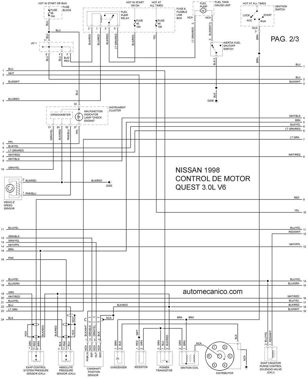 diagrama de cableado de nissan z24