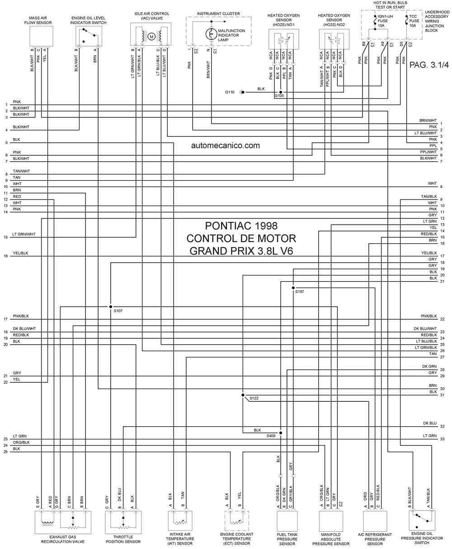 98 grand prix Diagrama del motor