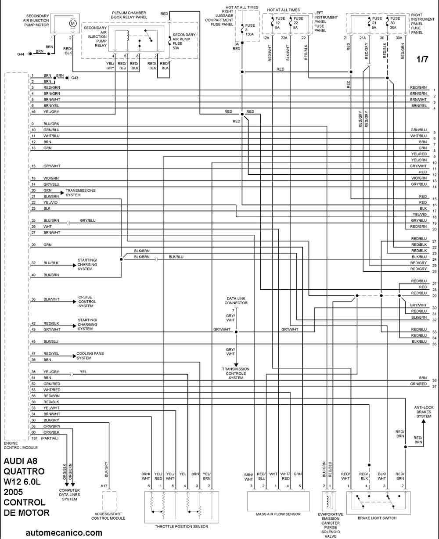 audi w12 Diagrama del motor