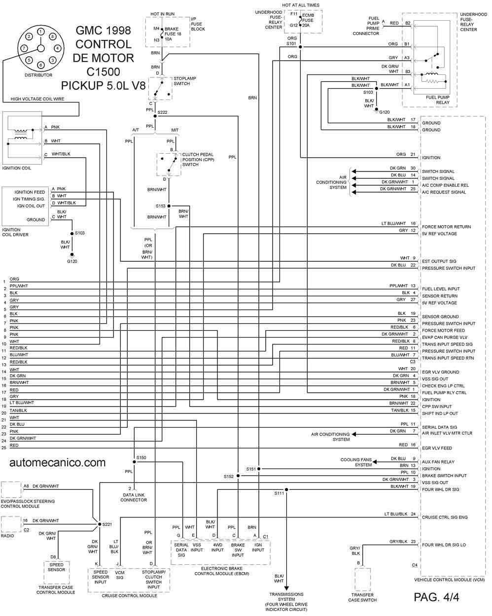 95 gmc radio wiring