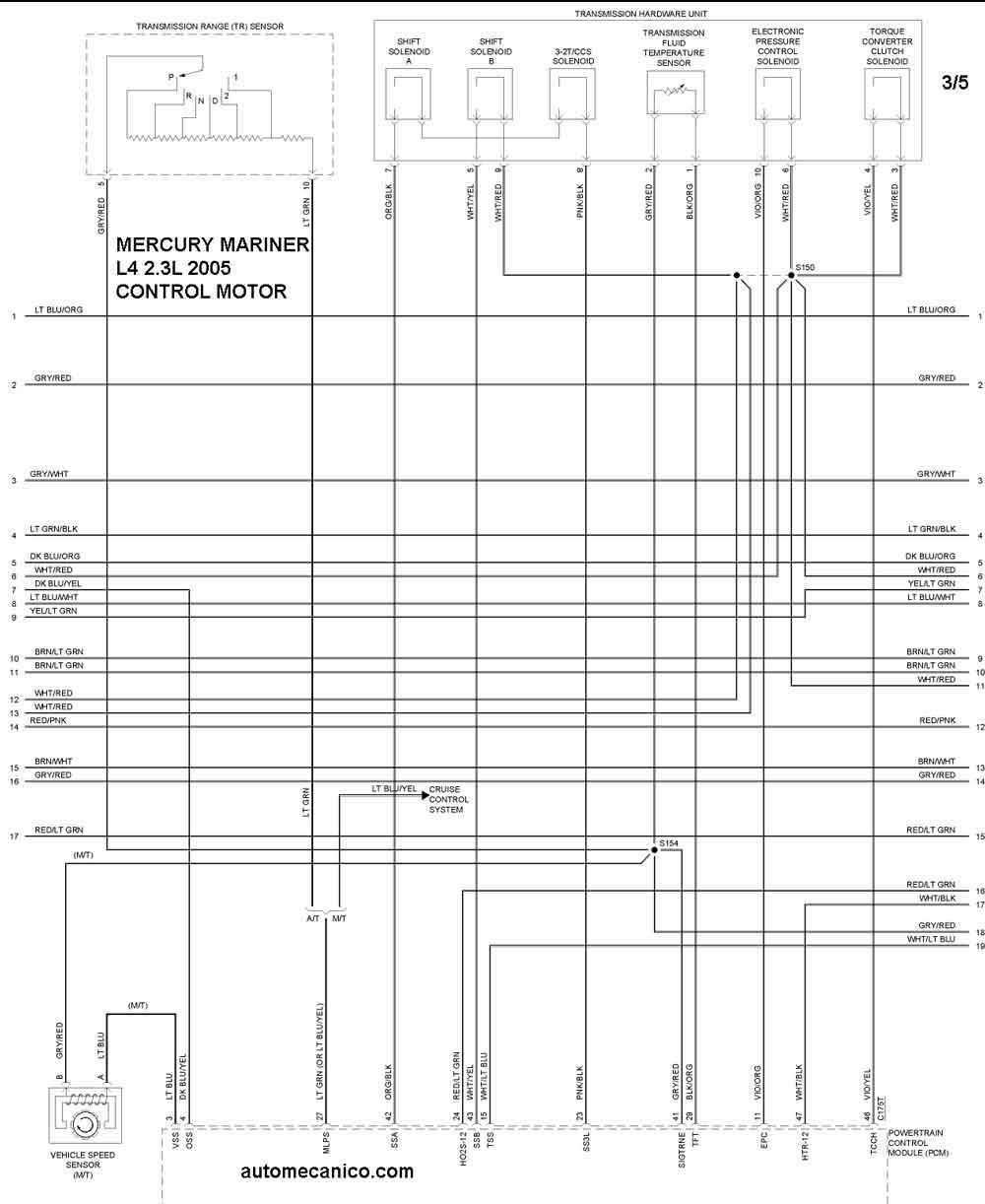 mercury 2005 4 2 Diagrama del motor