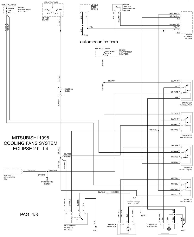 mitsubishi diagrama de cableado abanico
