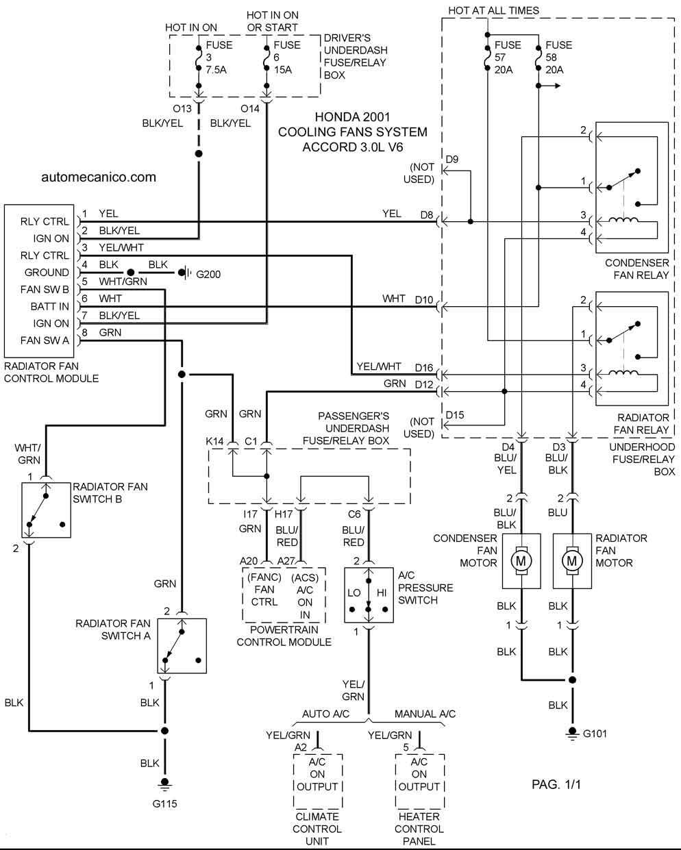 97 honda passport Diagrama del motor