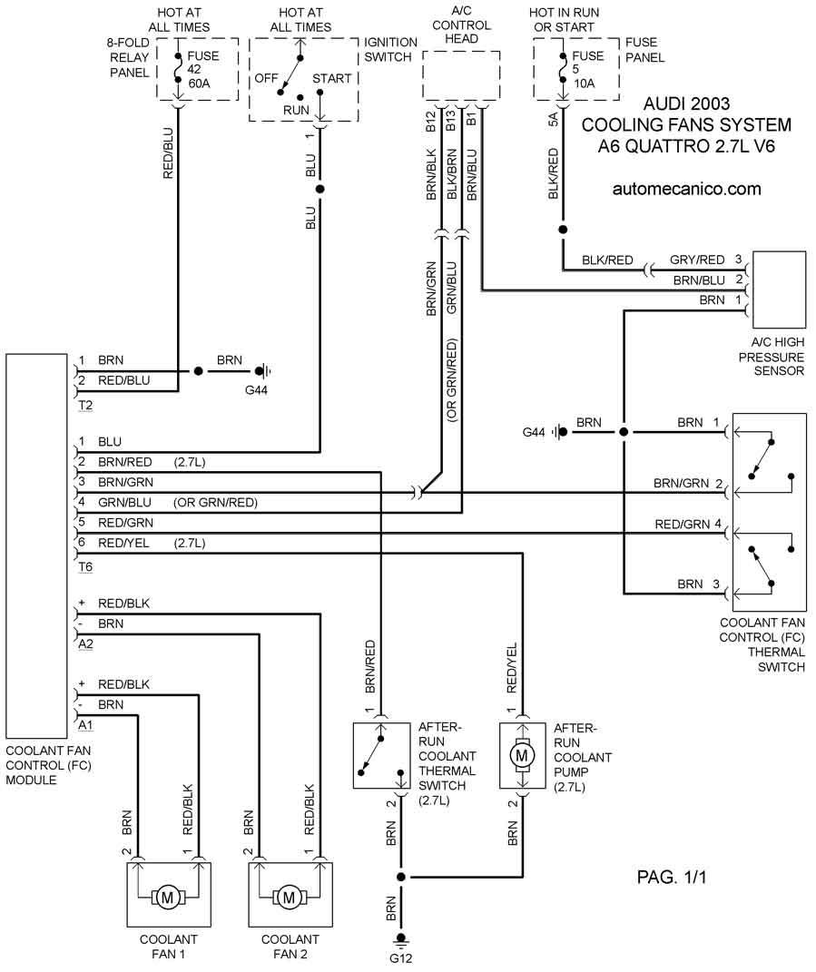 audi a8 4 2l v8 Diagrama del motor