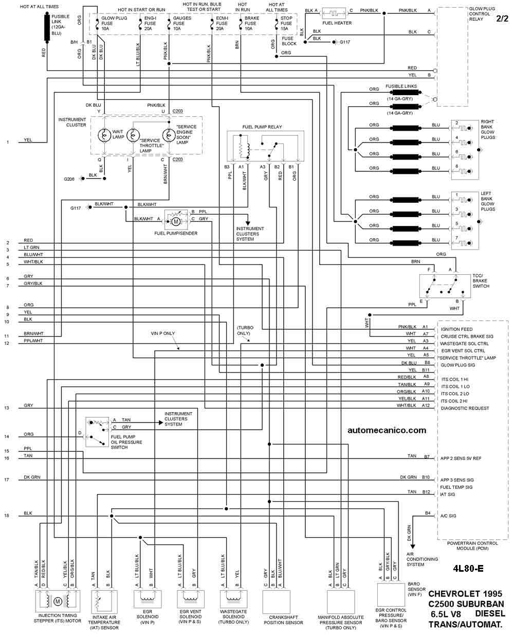 del Schaltplan for 1995 chevy suburban