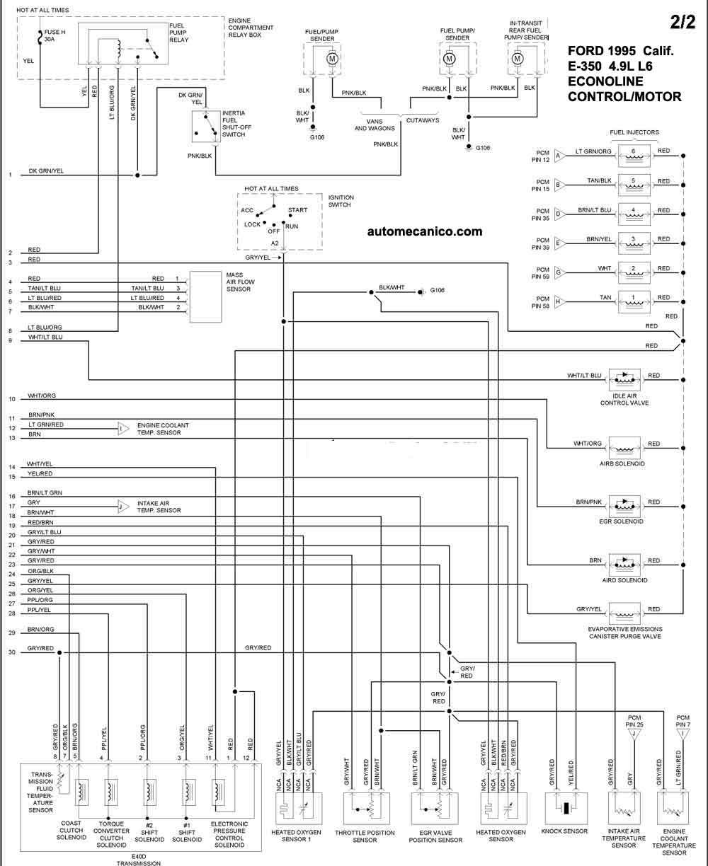 ford 6 8l Diagrama del motor