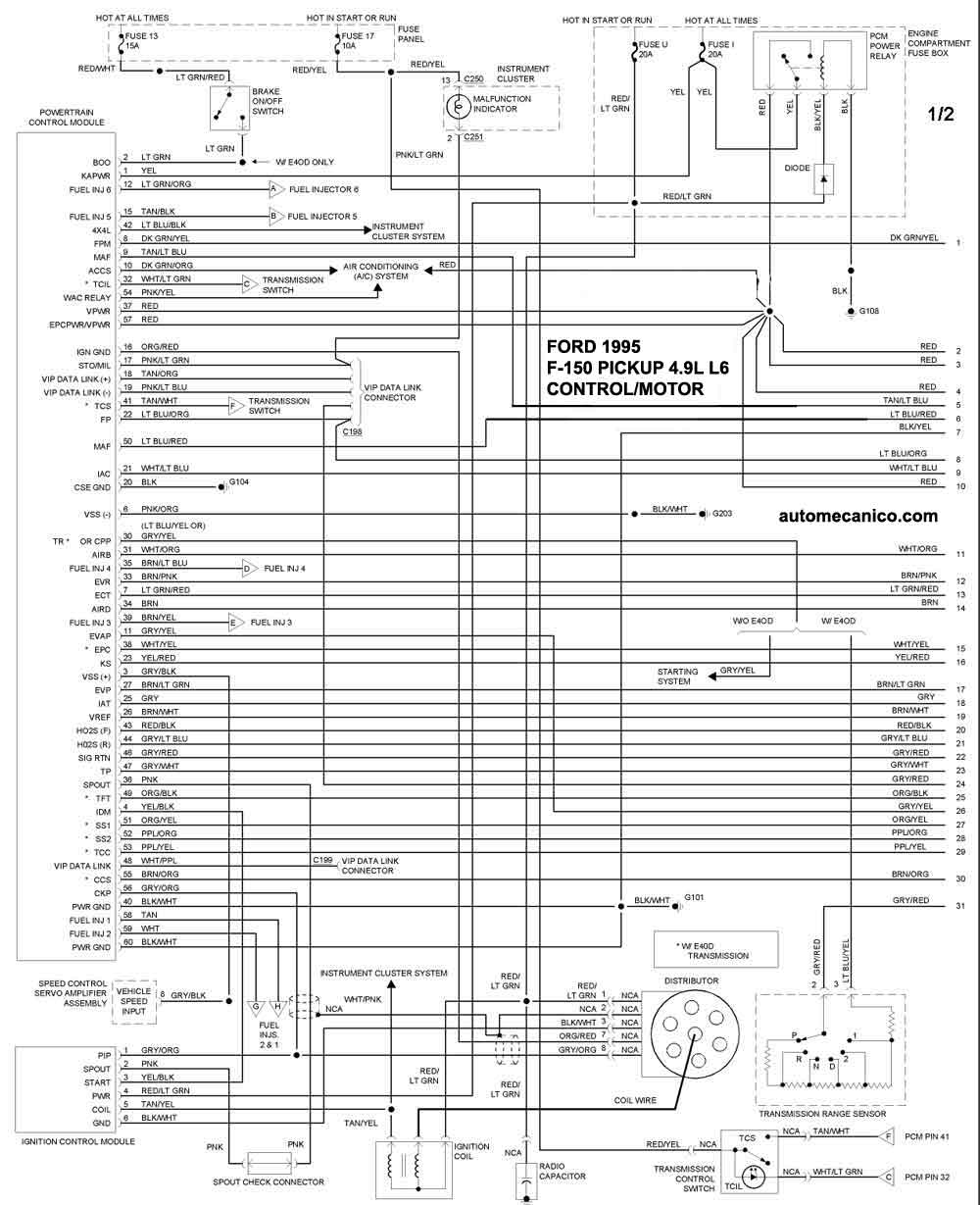 diagrama de cableado for 1994 ford f 150