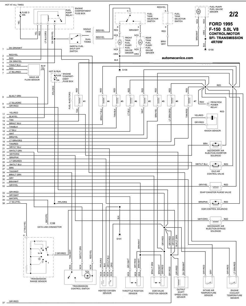 03 ford f 150 Diagrama del motor