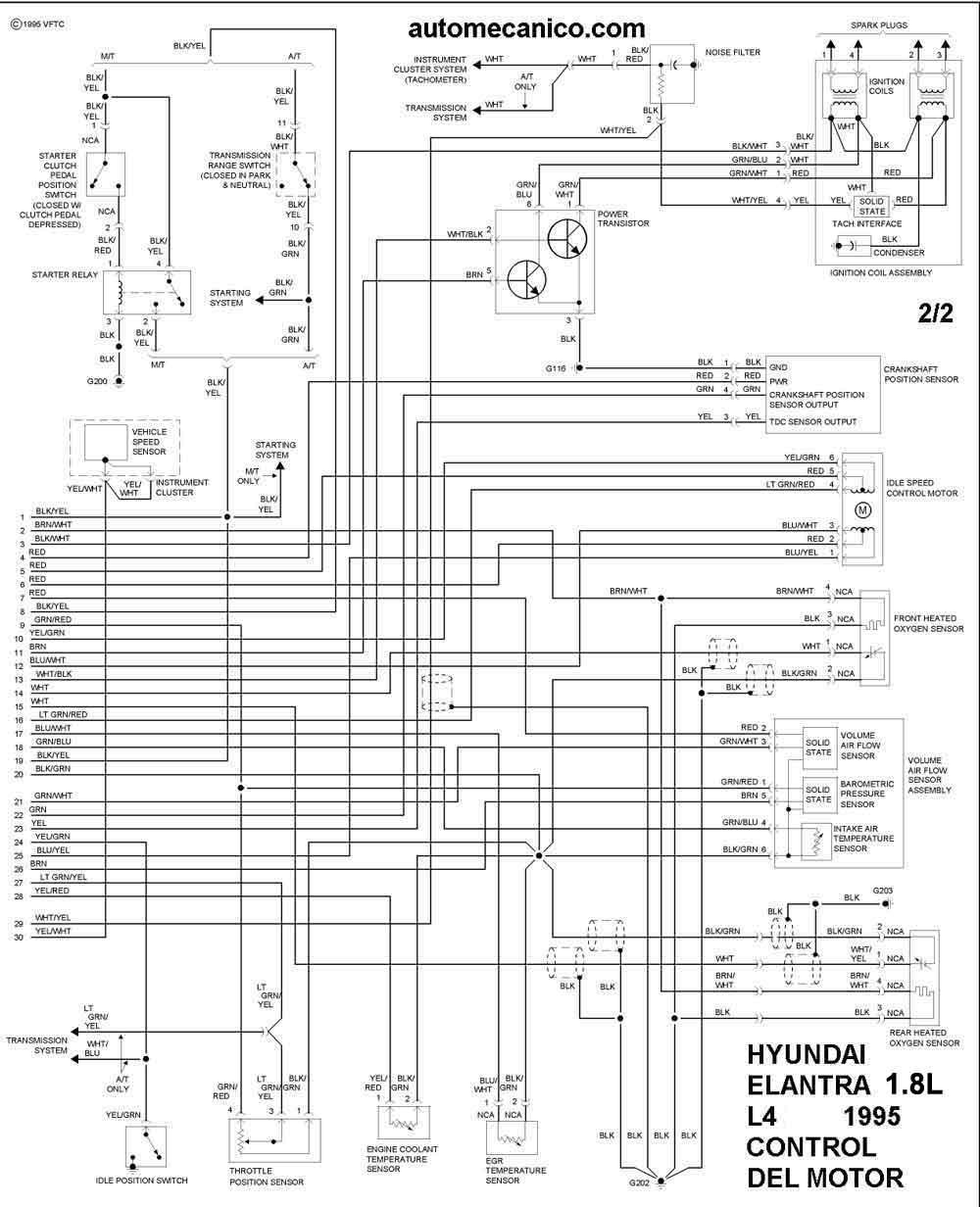 95 hyundai excel wiring diagram