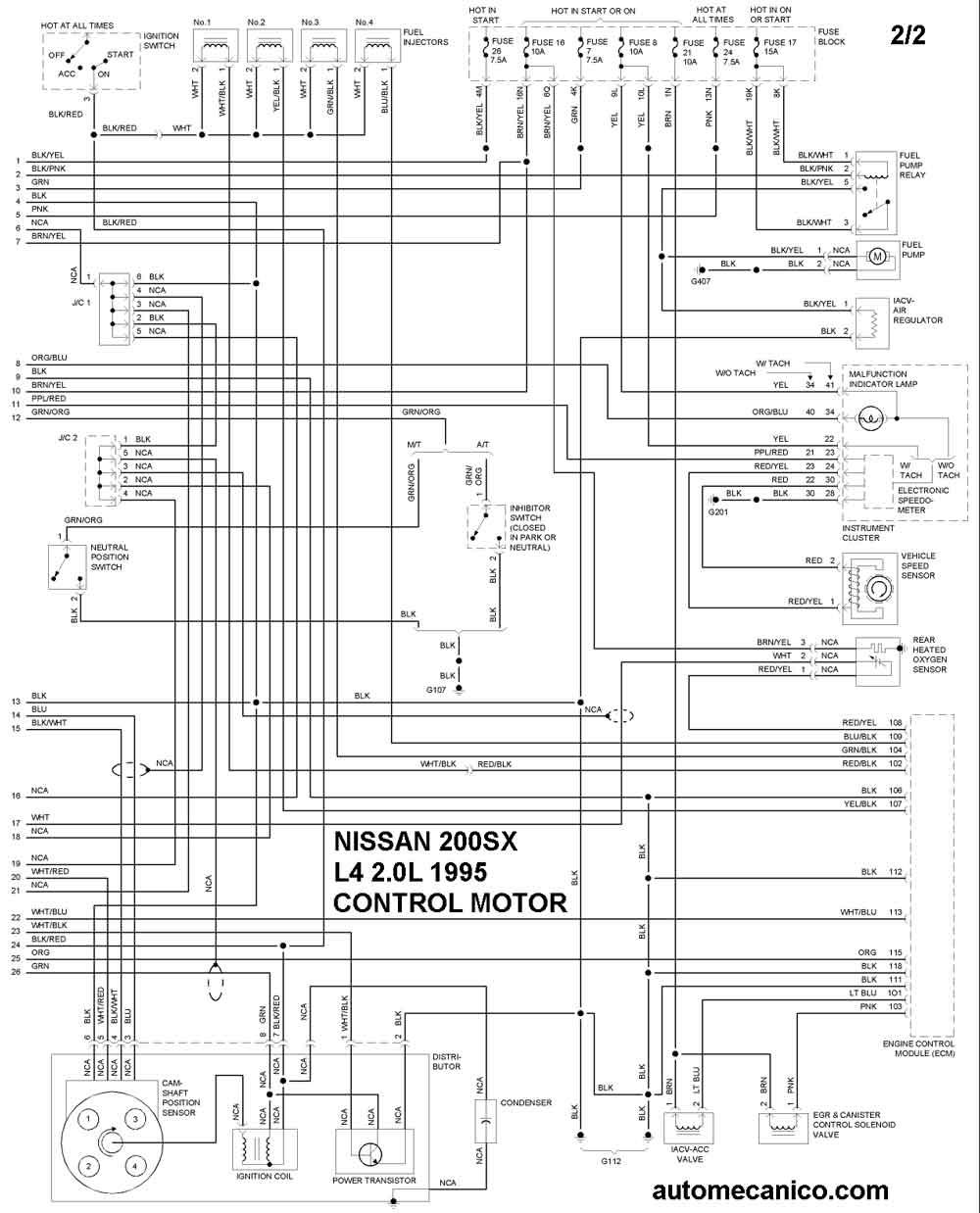 diagrama del cableado electrico ventilador mustang 3 8 95
