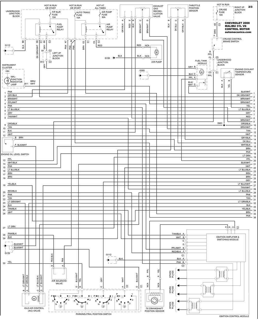 66 chevy Diagrama del motor