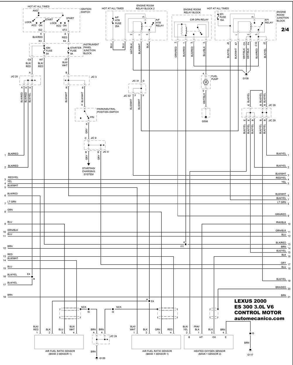 lexus gs Diagrama del motor