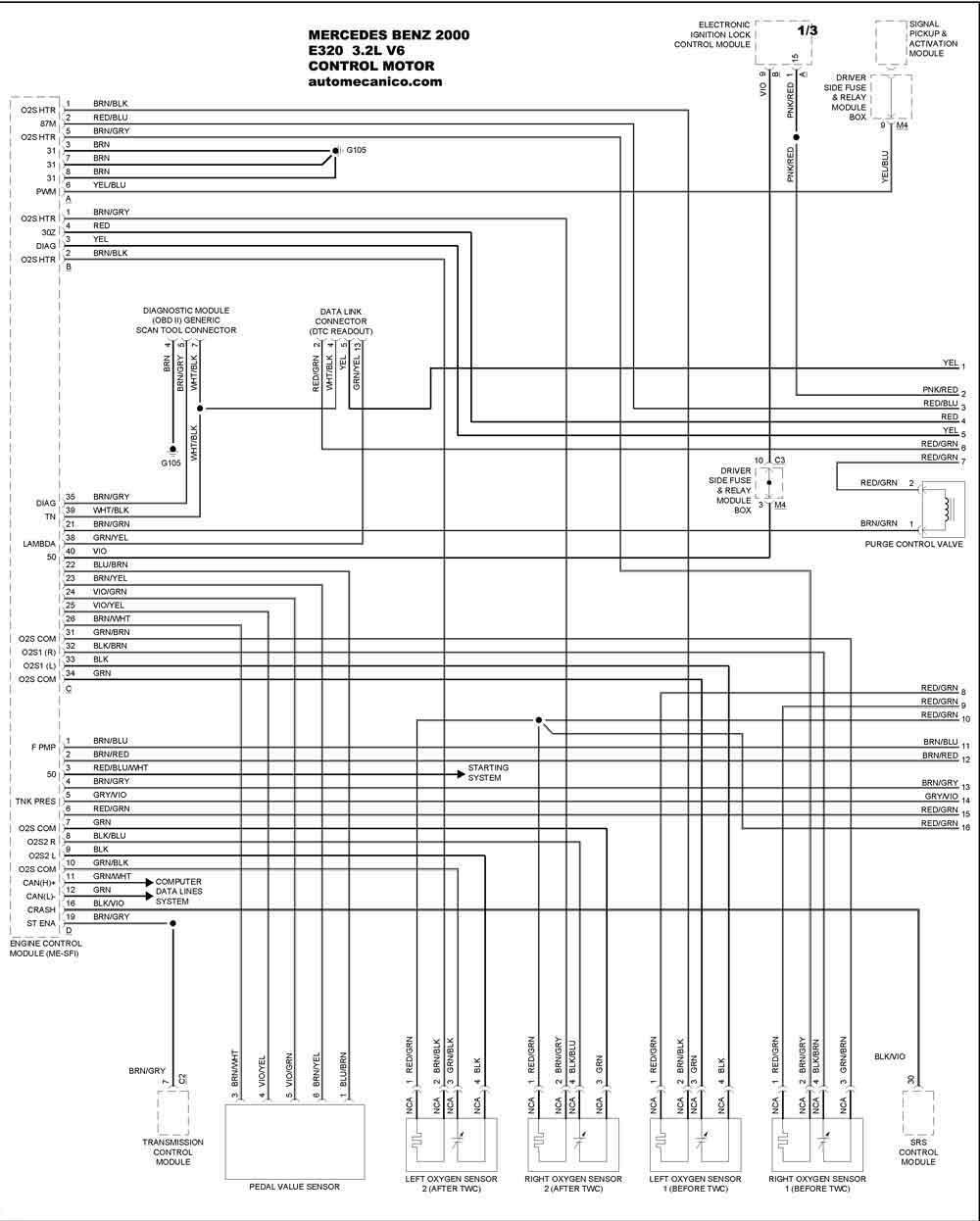 diagrama de cableado 2000 merc