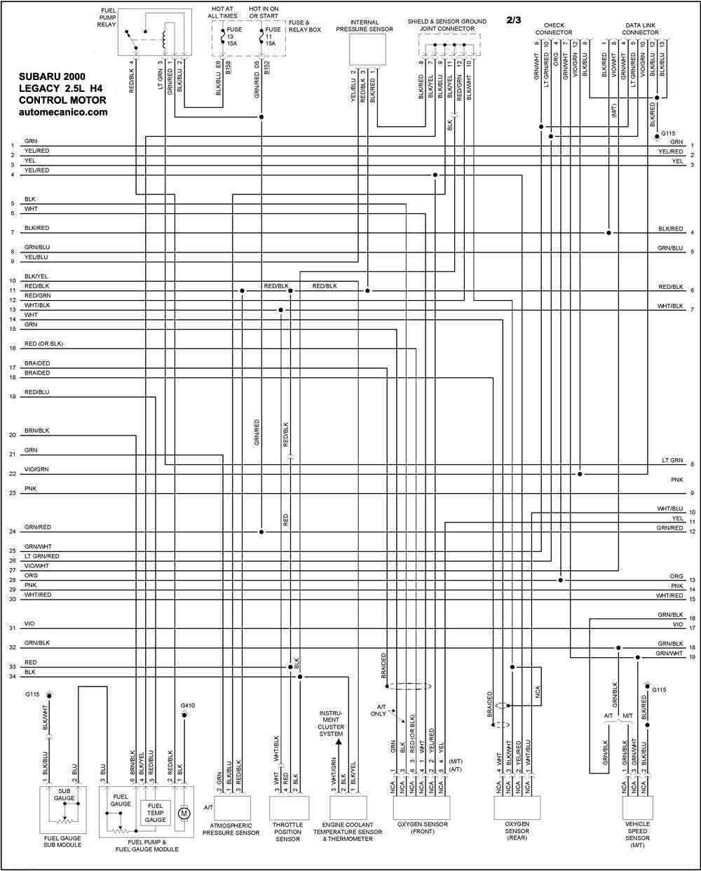 ej20 Diagrama del motor
