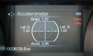 Também pode-se saber as acelerações em todos os sentidos, exceto para cima e para baixo, claro
