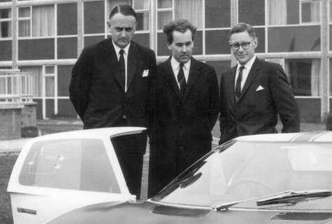 John Wyer, Eric Broadley e Roy Lunn [fordgtforum.com]