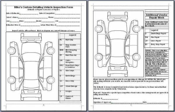 Mike Phillips Vehicle Inspection Form - AutogeekOnline Gallery - vehicle inspection form