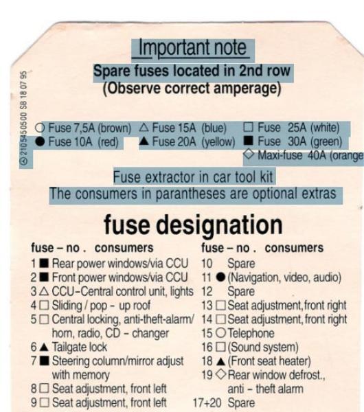 2001 mercedes e320 rear fuse box diagram