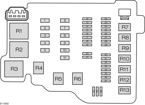 Ford B-MAX (form 2012) - fuse box diagram - Auto Genius