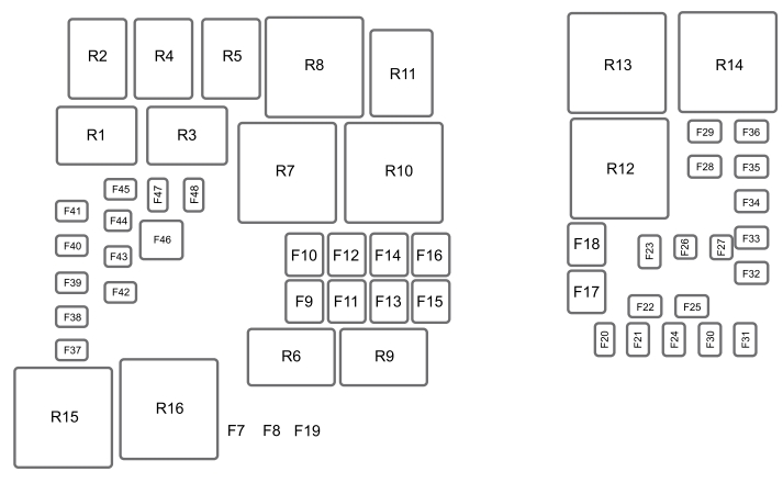 2015 ford f350 fuse panel diagram