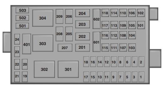 2011 f650 fuse box