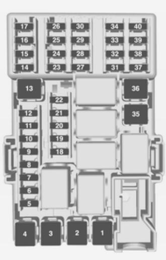 Vauxhall Adam (2014) - fuse box diagram - Auto Genius