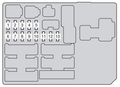 Toyota Hilux (2011 - 2013) - fuse box diagram - Auto Genius