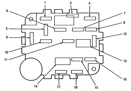 Lincoln Mark VIII (1996 - 1998) - fuse box diagram - Auto Genius
