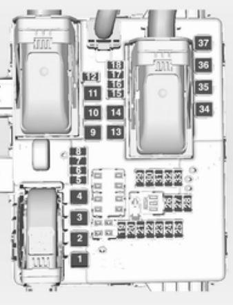 Opel Insignia (2014 - 2015) - fuse box diagram - Auto Genius