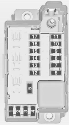 Opel Meriva B (2012 - 2016) - fuse box diagram - Auto Genius