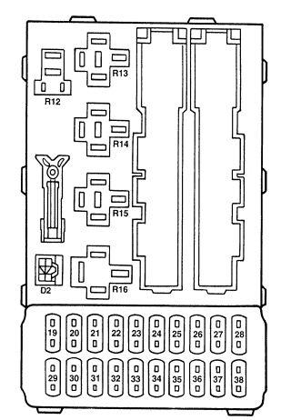 2000 mercury mystique fuse box diagram