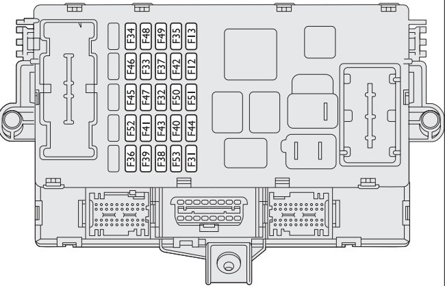 Fiat Bravo (2008 - 2014) - fuse box diagram - Auto Genius