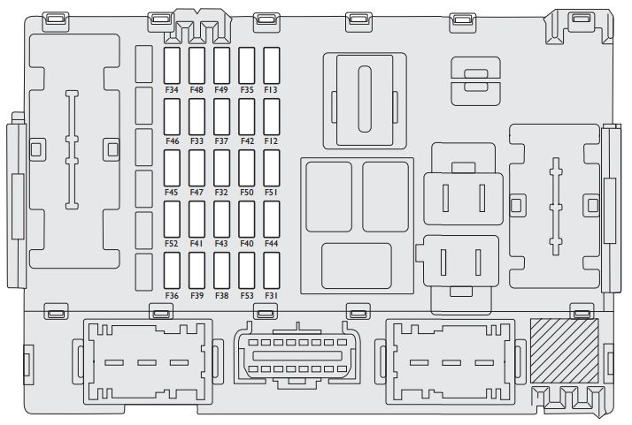 Fiat Linea (2007 - 2013) - fuse box diagram - Auto Genius