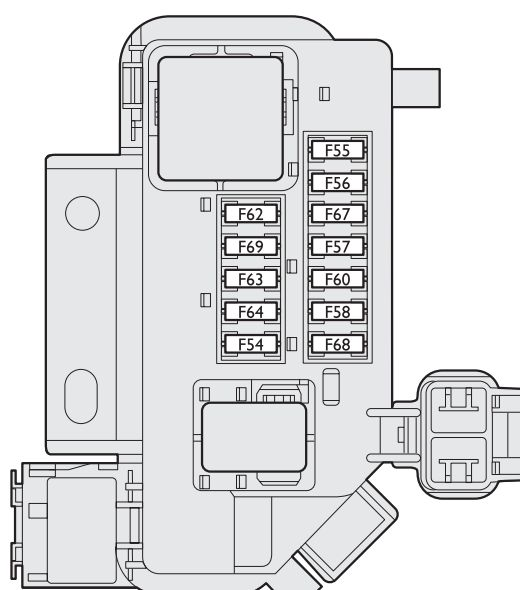 Fiat Stilo (2001 - 2008) - fuse box diagram - Auto Genius