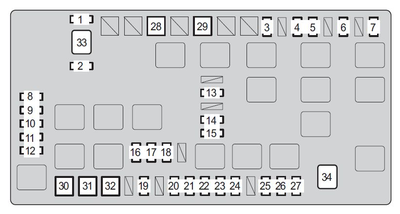 2008 toyota fj cruiser fuse box diagram