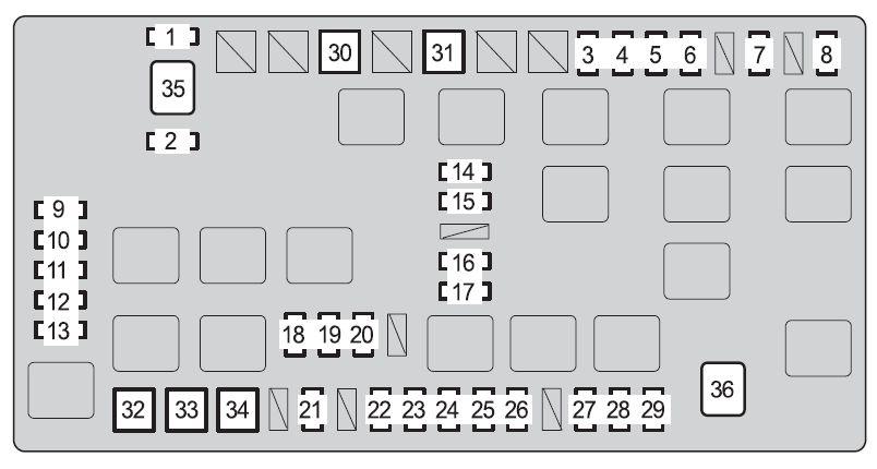 Toyota FJ Cruiser (2010) - fuse box diagram - Auto Genius
