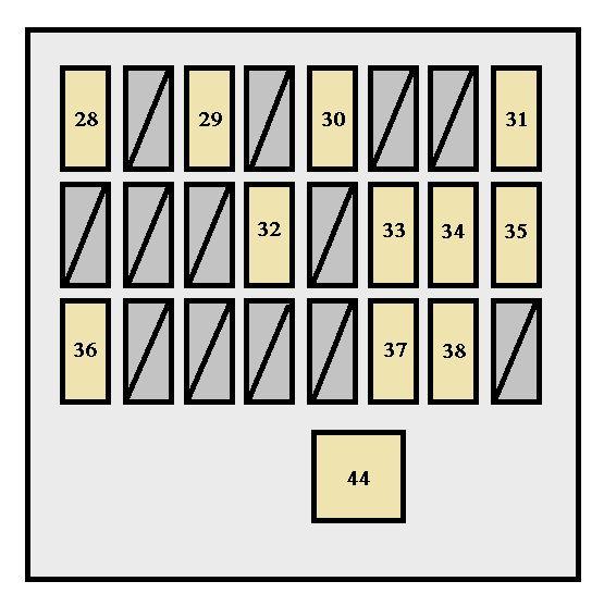 Toyota FJ Cruiser (2006 - 2007) - fuse box diagram - Auto Genius
