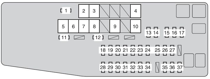2012 toyota camry interior fuse box diagram