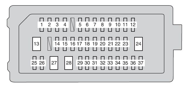 2012 toyota camry fuse box diagram