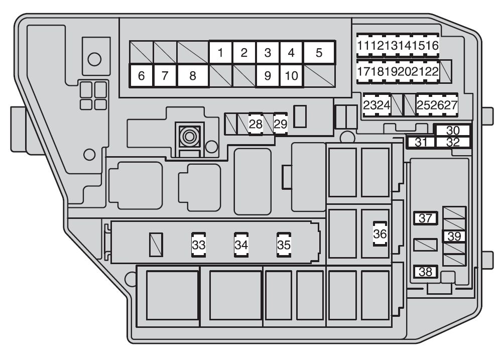 2009 toyota camry fuse box layout