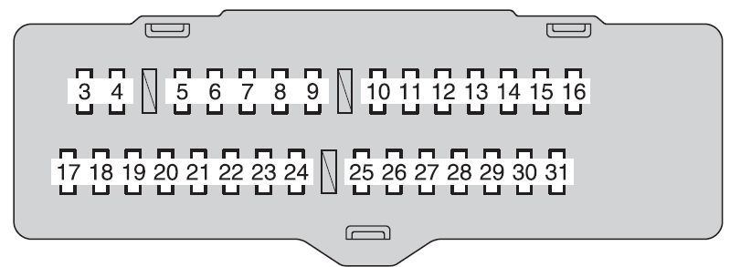 Toyota Highlander Hybrid (2009 - 2010) - fuse box diagram - Auto Genius