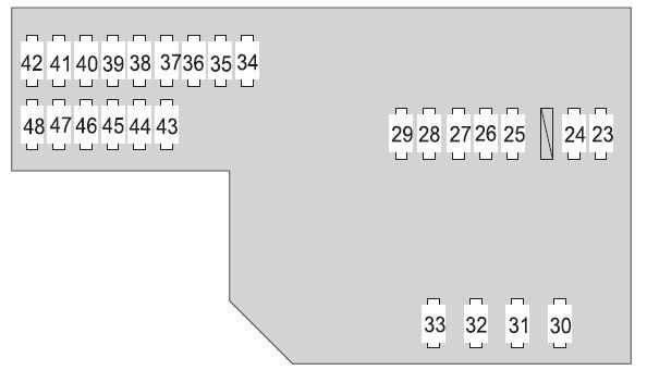 Toyota Prius (XW20; 2008 - 2009) - fuse box diagram - Auto Genius