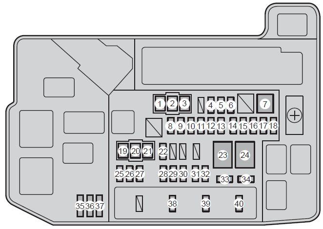 prius c fuse box diagram